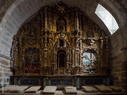 Fotografie, Obraz  Altarpiece of Young Santa Maria Church in Noia