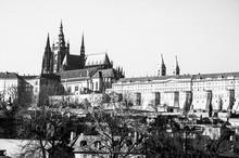 Panorama View Of Prague. Prague Castle And Hradcany.