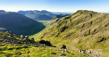 Views Of Scafell Pike And Mosedale From Looking Stead In The English Lake District, UK.