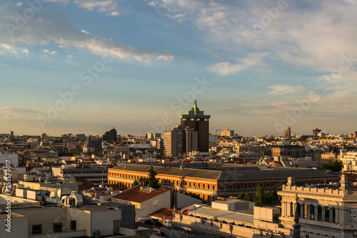 Fotografie, Obraz  View of the skyline from the roof terrace of Círculo de Bellas Artes, Cultural A