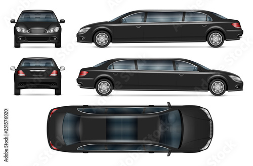 Photographie  Realistic limousine vector mock-up