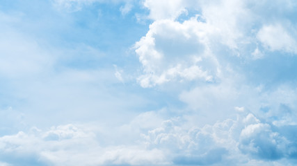 Fototapeta Niebo Blue sky and white clouds background.