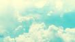 Leinwanddruck Bild - Blue sky and white clouds