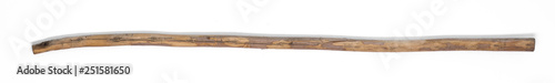 Fototapeta wooden staff on white isolated background obraz