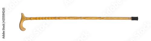 wooden crutch for walking on a white isolated background Billede på lærred