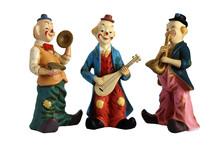Ceramic Figurines Clowns Musicians