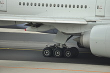 Main Gear Of A Boeing 777