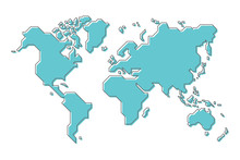 World Map With Simple Modern C...