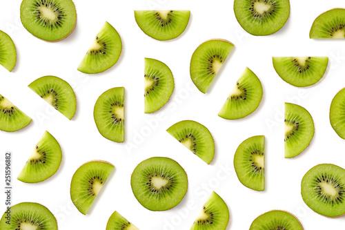 Fruit pattern of kiwi slices - 251596882