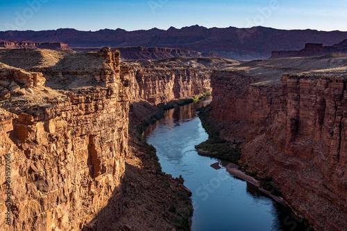 Photo  The Colorado river running through a section of Glen Canoyon near Navajo Bridge of of the 89A in Arizona