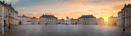 Royal Amalienborg Palace in Copenhagen Wallpaper Mural