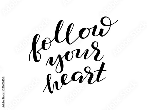 Follow your heart lettering Canvas Print