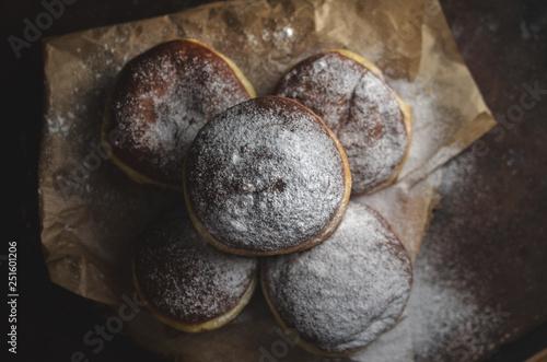 Fotografie, Obraz  Polish donuts with icing sugar