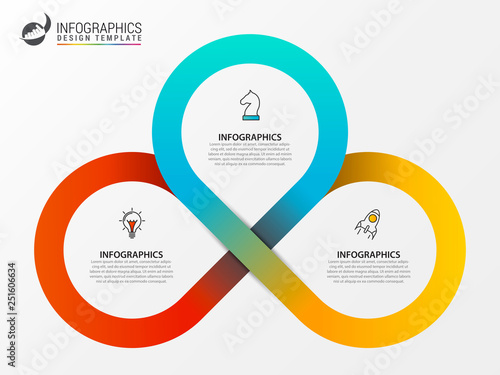 Infographic design template. Creative concept with 3 steps Tapéta, Fotótapéta
