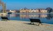 Urlaub Konstanz am Bodensee mit Seeblick und blauen Himmel