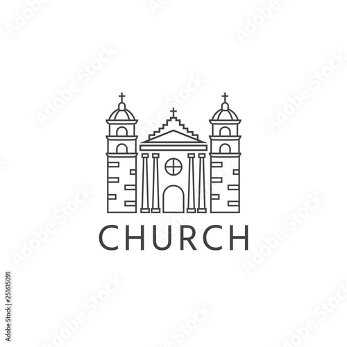 Valokuva Simple template logo icon of the abstract church building