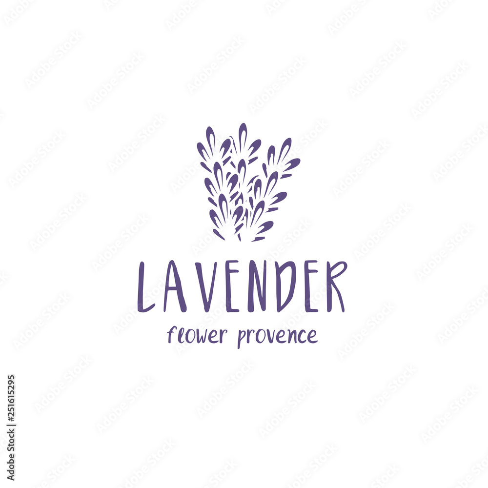 Fototapety, obrazy: Set of template logo design of abstract icon lavender. Vector illustration