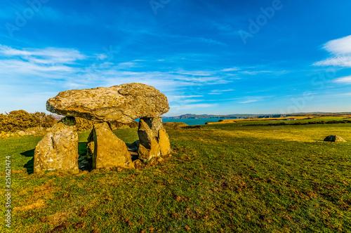 Slika na platnu Carreg Sampson  Neolithic Burial Chamber West Wales UK