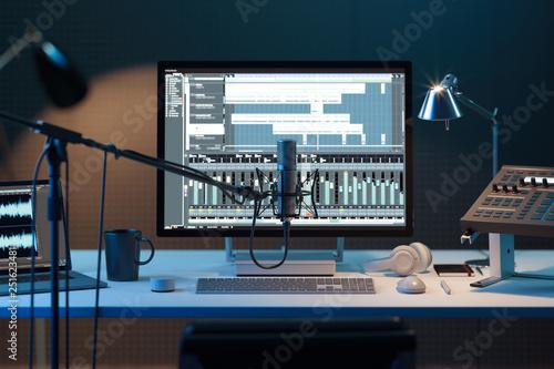 Fotografie, Obraz  Studio Computer Music Station