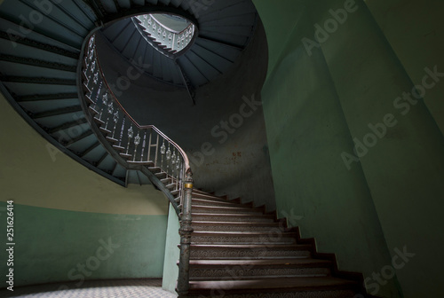 Fototapety, obrazy: Staircase in old building