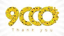 Thank You 9 000 Followers Logo...