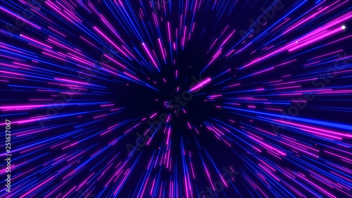 Photo  Blue, purple and pink abstract radial lines geometric background