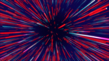 Red And Blue Abstract Radial L...