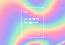 Colorful Holographic Background With Bright Neon Shades