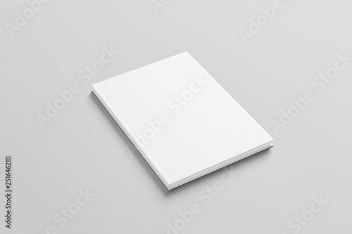 Fotografering  Realistic Blank Hard Cover Of Magazine, Book, Booklet, Brochure  Isolated On White Background