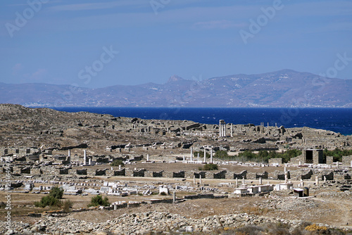 Foto op Aluminium Algerije Delos Archaeological Museum on the island of the Cyclades