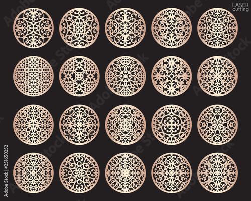 Foto Laser cut round patterned templates set