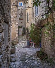 Fototapeta Uliczki Courtyard in the old French town
