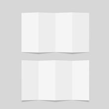 Four Fold Brochure Mockup. Bla...