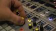 Digital Sound Mixer In The Studio
