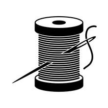 Vector Black And White Spool Icon
