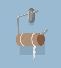 Vector Empty Toilet Paper Roll...