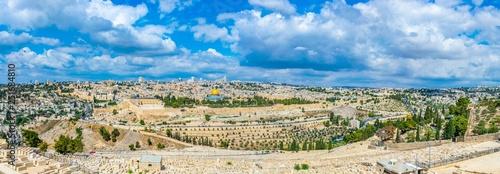 Fotografía Jerusalem viewed from the mount of olives, Israel