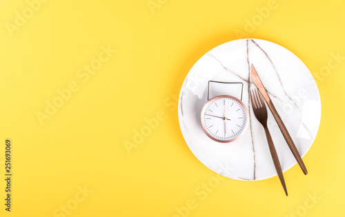 Concept minimal Time to Eat Canvas Print