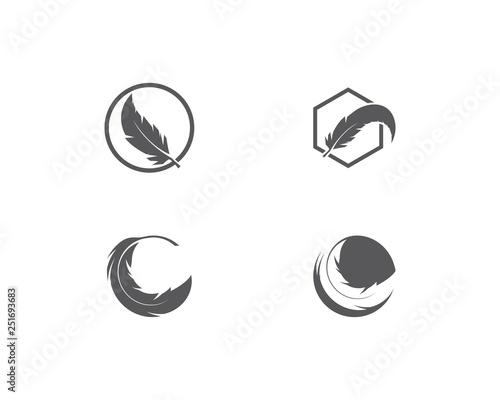 Canvas Print feather logo vector