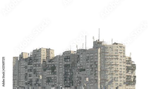Carta da parati  Slums buildings isolated on white background 3d illustration