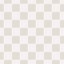 Vector White And Beige Checkered Seamless Pattern With Diagonal Lines, Squares