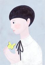 Illustration Of Girl Standing ...