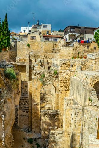 Ruins of pools of Bethesda in Jerusalem, Israel фототапет
