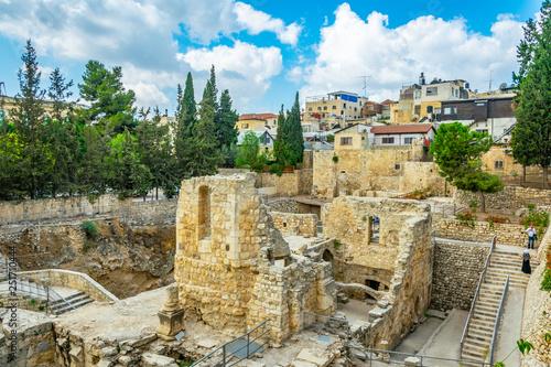 Ruins of pools of Bethesda in Jerusalem, Israel Canvas Print