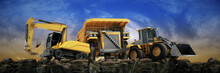 Vehicle Construction At Sunset...