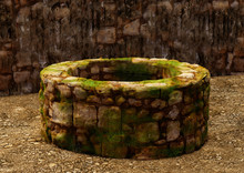 Ancient Water Well, Typical In The Biblical Cities Of Jerusalem, Nazareth, Galilee, And Cities Of Asia Minor. 3D Illustration