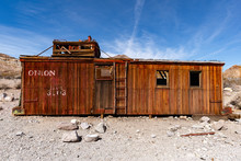 Old Western Railroad Car Caboose