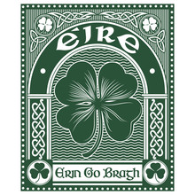 Irish Celtic Design, Celtic-style Clover And Slogan Erin Go Bragh, Illustration On The Theme Of St. Patricks Day Celebration