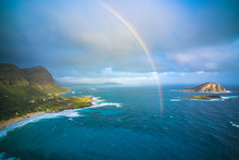 Rainbow Touches Down In Hawaii