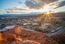 Sunrise Over St. George, Utah ...